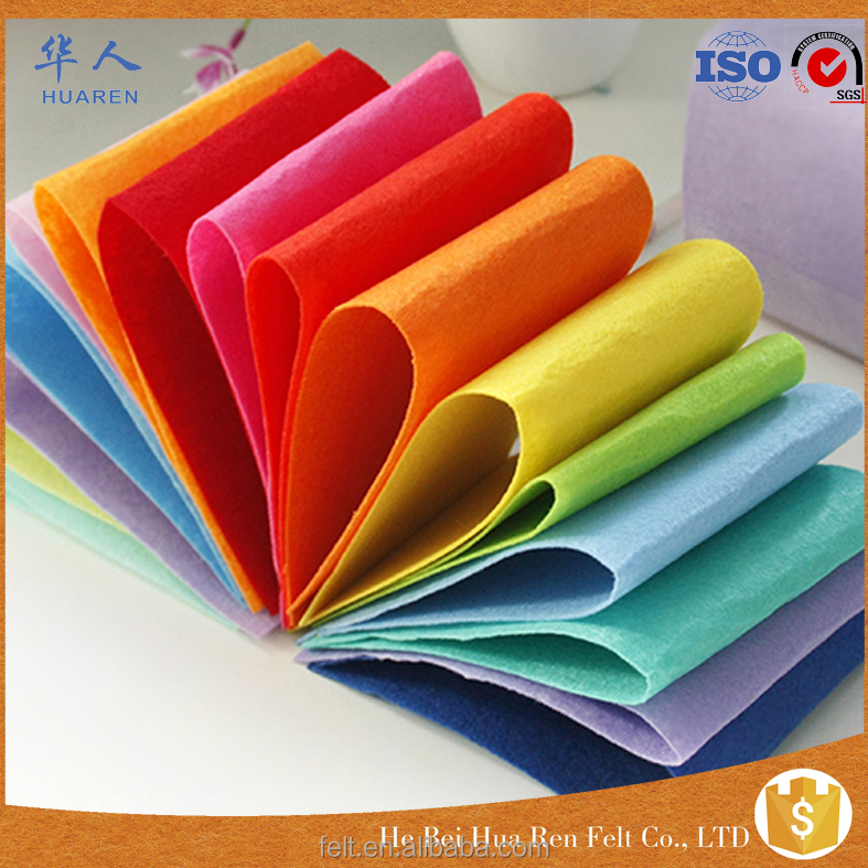 hign quality manufacturer wholesale colorful polyester nonwoven fabric felt