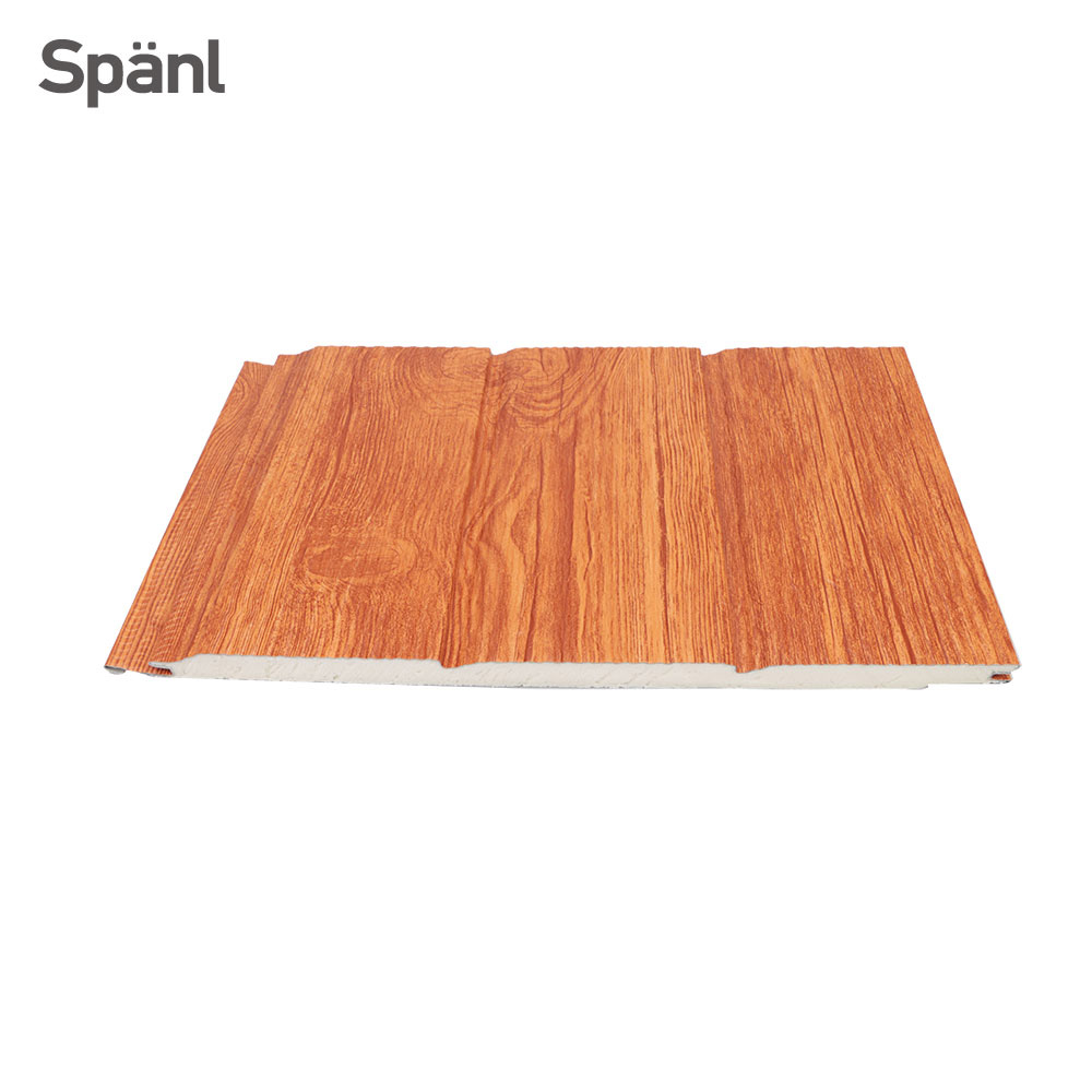 Spanl 3d effect polyurethane sandwich groove metal siding <strong>panel</strong> decorative