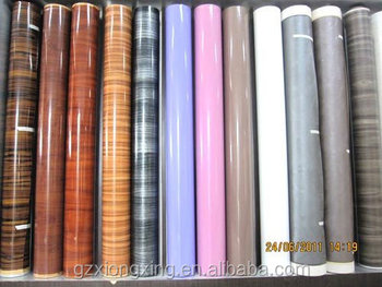 Matt wood grain color high gloss wood grain Solid color PVC Furniture decorative film