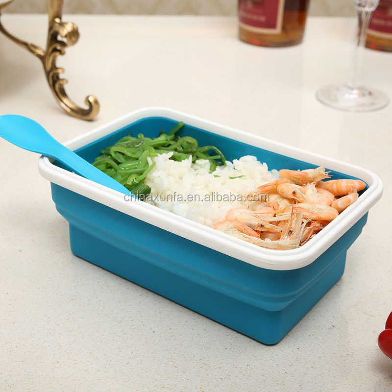 Airtight Eco friendly Foldable Food Containers Storage Fda Grade