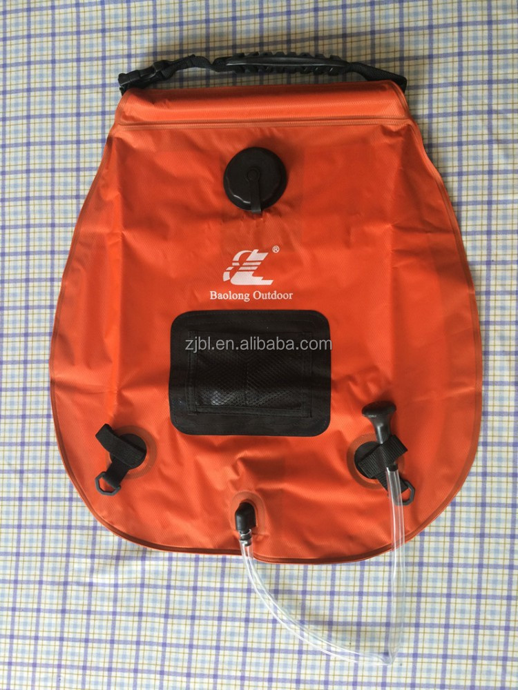 20L solar heating outdoor camping portable shower bag with high quality