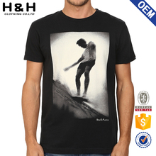 Hip Hop Curved Hem short sleeve high quality 100% cotton t shirts