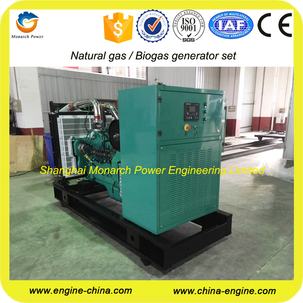 CE approved CUMMINS natural gas generator 300 KW