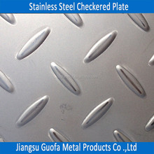 Hairline Surface 6mm Thick 202 Stainless Steel Chequer Plate
