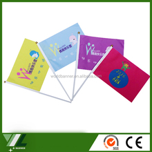 Advertising China factory made world flag,promotional banner with Logo