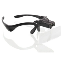 BIJIA Magnifier Glasses With 2 LED Professional Jeweler's Loupe Light Bracket and Interchangeable Headband 1.2x-3.5x