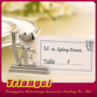 Wholesale Wedding Favor Love Shaped Place Card Holder