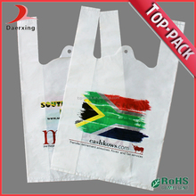 online shopping large size printing supermarket t-shirt plastic bag