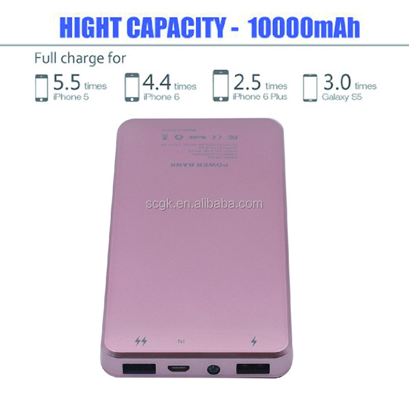Power Bank 10000mAh Fast Charge Quick Charger QC2.0 (12V/1.5A 9V/2A 5V/2A ) portable charger external battery for smartphone