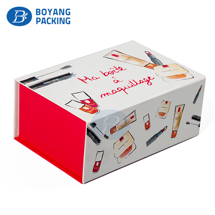 Custom Luxury Hot stamping glossing cardboard cosmetics packaging box