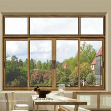 Fancy design good quality wooden frame sliding windows