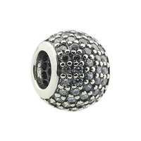 Authentic 925 Sterling Silver Charm Pave Lights, Clear cz
