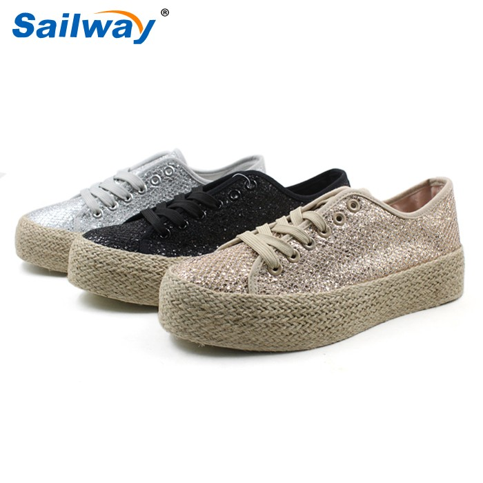 2016 latest women shoes with rope sole