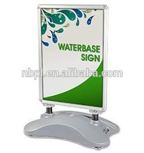 Aluminium mobile advertising board with water/sand base