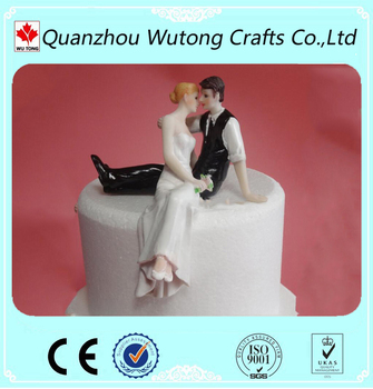 custom resin wedding decoration bride and groom cake topper table centerpieces