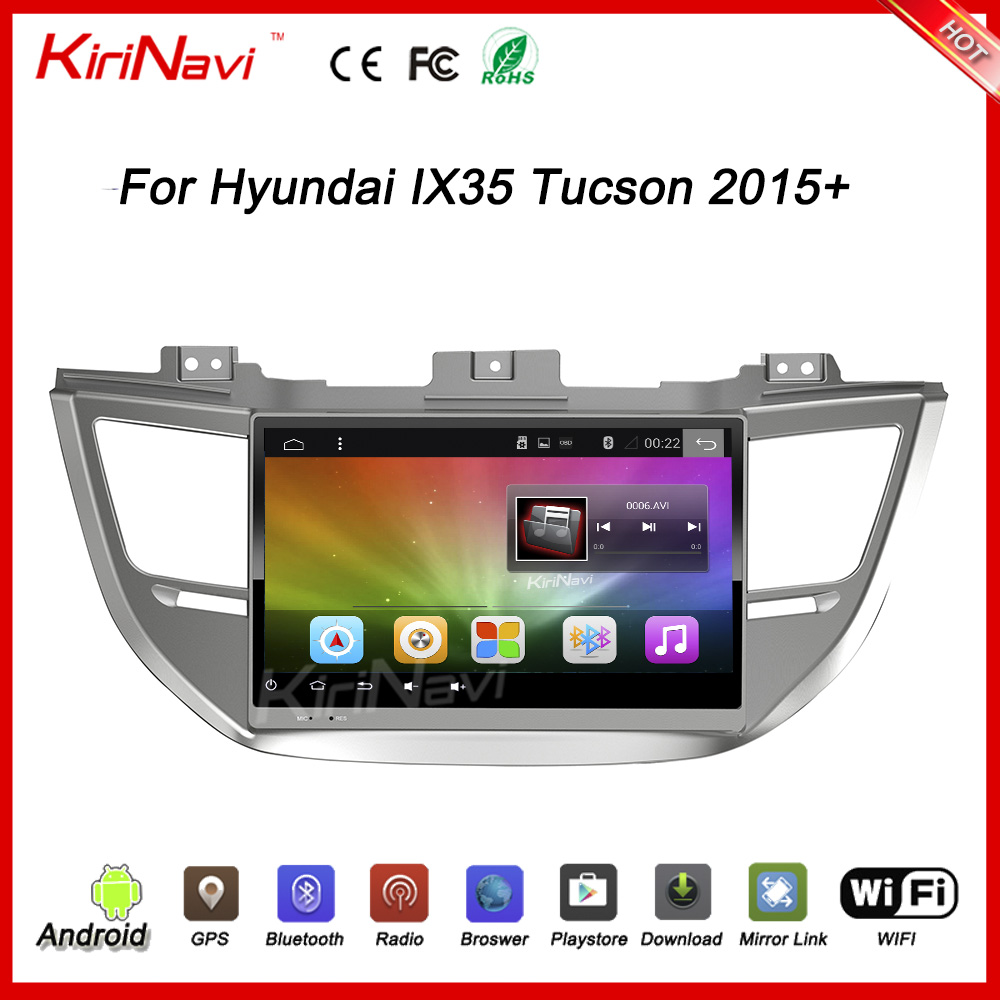 "KiriNavi WC-HI1065 Android 6.0 10.2"" car radio dvd for hyundai ix35 tucson dvd gps 2015 + touch screen"