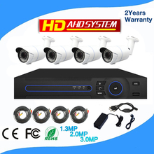 4CH AHD DVR kit, CCTV System 4PCS 1.3MP camera dvr kit