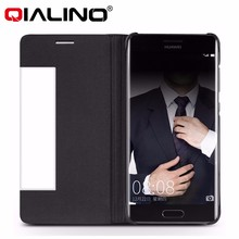 QIALINO Brand 2017 smart wake genuine leather flip case for huawei mate 9