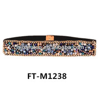 Fashion Lady Elastic Beads Belt, Rhinestone Elastic Belt FT-M1238