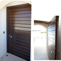 Simple fashion exterior swinging doors double door made of 100% solid red oak wood
