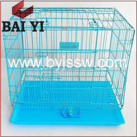 Large Commercial Wire Mesh Dog Cage / Pet Dog Crates With Wheels