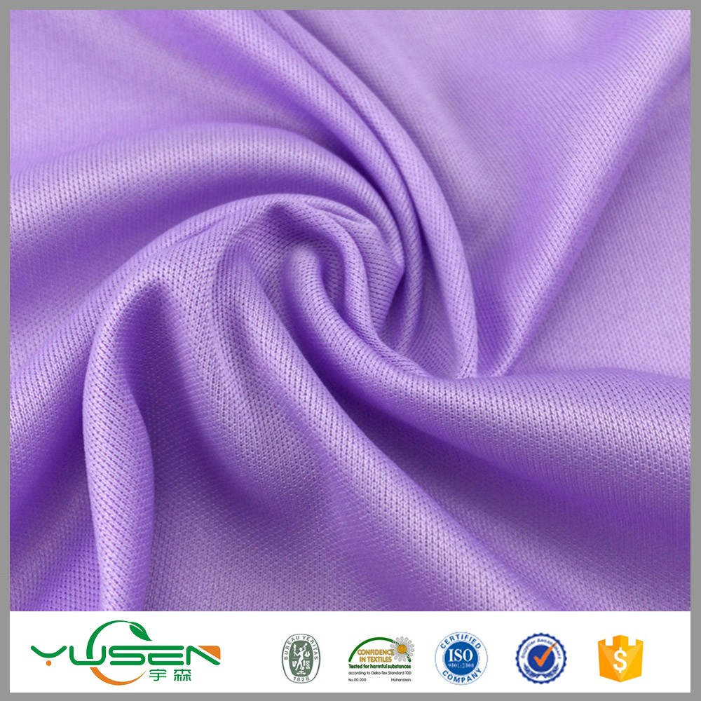 FDY polyester running single jersey knitting fabric stock lots for fashion design cloth