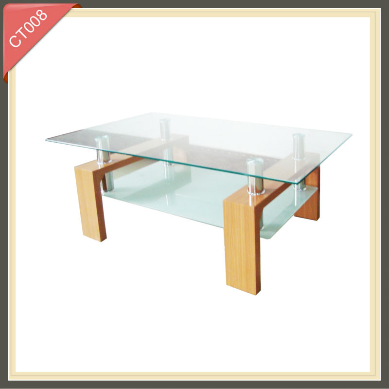 perspex modern led cheap tall tempered glass coffee table