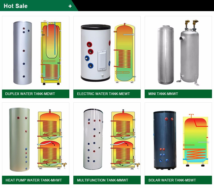 New Style Eco-Friendly Electric Electric Geyser 100L - 1000L Hot Solar Stainless Steel Tank