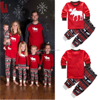 2017 Soft Sleepwear Set Matching Family