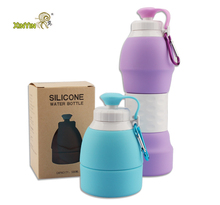 Newest environment friendly sport silicone folding water bottle