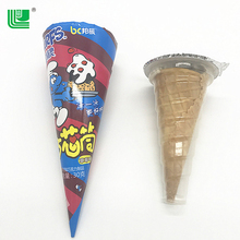 Brand new strawberry taste biscuit whistle ice cream with wafer milk flavor chocolate cone