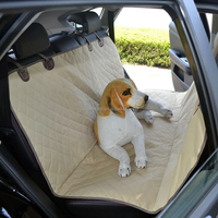 Hot item , black car pet seat cover with non-slip net and seat anchors for cars