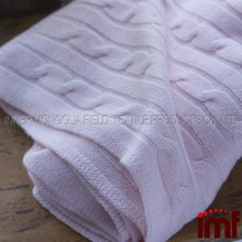 100% Cashmere Baby Blanket Handmade Knitted Baby Blanket
