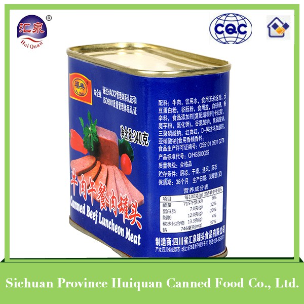 China wholesale high quality halal canned beef luncheon meat wholesale