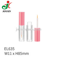 Cosmetic Components Packaging Eyelash Mascara Vial Bottle Acrylic Plastic Clear Straight Cylinder 2ml 3ml Eyeliner Tube