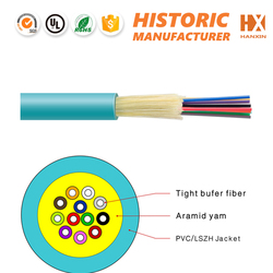 G652 optic fiber for making patch cord, pigtail 4 core singlemode fiber optic cable