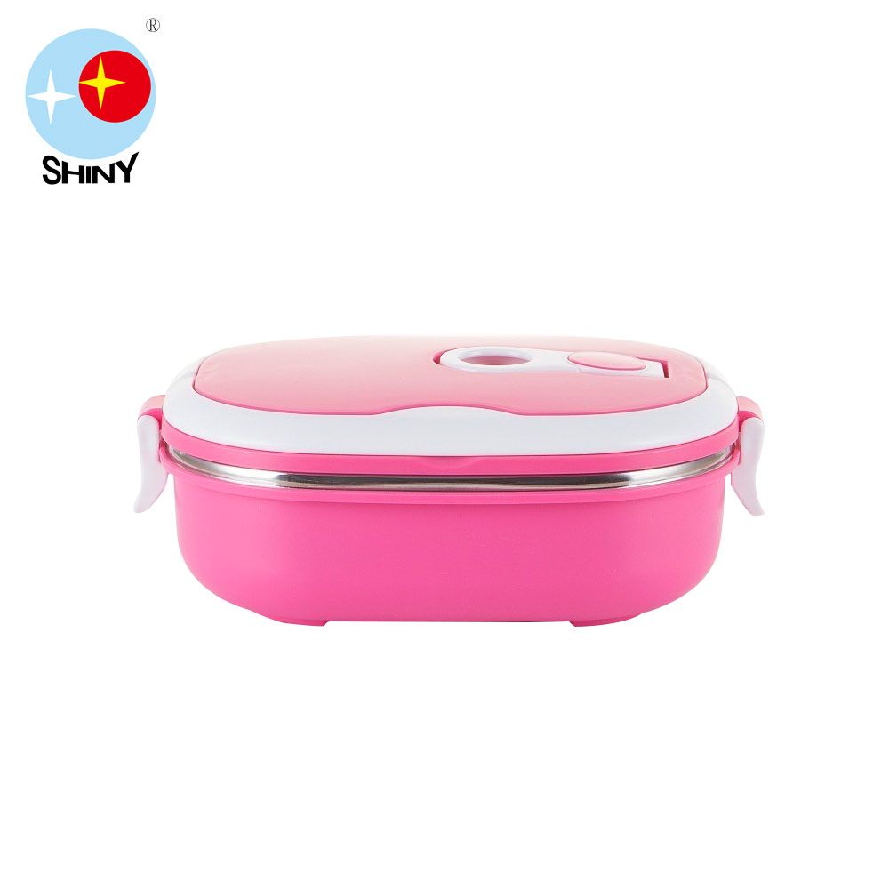 SHINY FLS Colorful lunch box tiffin carrier with square shape