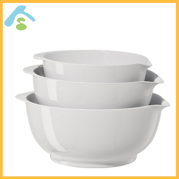 Multi purpose colander melamine mixing bowl