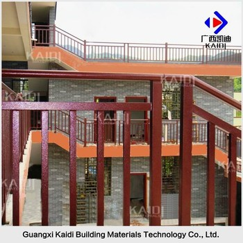 Powder Coated Galvanized Steel Pipe Stair Handrails