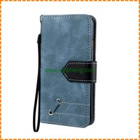Sheep Skin Pattern Strong Magnet Flip Wallet Cover PU Leather Case for iPhone 7 Plus