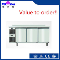 Hot sale commercial stainless steel table model freezer for sale