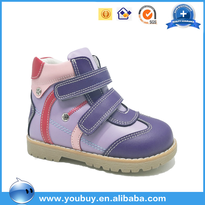 Factory outlet price genuine leather casual shoes for kid girls