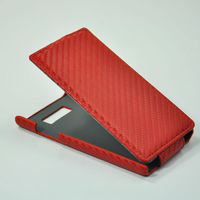 new products for 2013 Grid pattern leather case cover for lg p700 optimus l7 p700