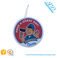 High quality paper air freshener for car Promotional Custom Paper Hanging Car Air Freshener