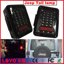 Fashion red (yellow) white jeep tail lights for Turn Signal Running Brake Reverse Taillight For Jeep Wrangler JK
