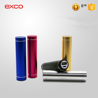 EXCO 2016 2000mah aluminum lipstick power bank with custom logo manufacturers,portable power bank supplier