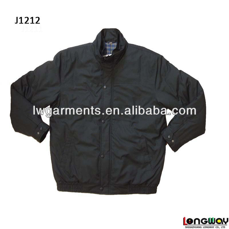 MENS 2013 POLYCOTTON BOMBER JACKET CASUAL JACKET BLACK