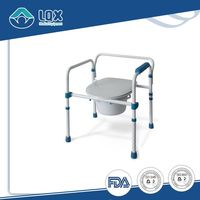 shower cabin extra large heavy duty detachable drop-arm commode