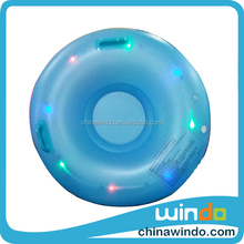 Winter Outdoor Sport LED Ski Inflatable Sled for Kids Circle Snow Water Ski Sledge Tube