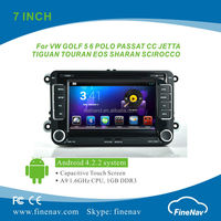 "7"" Lcd Screen Car Audio system for VW Passat Golf Tourage Seat with Gps Navi,3G,Wifi,Bluetooth,Ipod Support DVR"